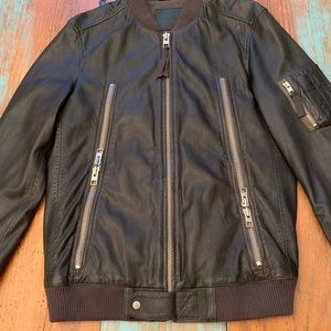 ALL SAINTS RUE LEATHER BOMBER. 100% Leather Size M